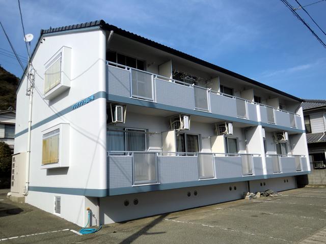 プレジデント日の峰(アパート塗装) パーフェクトトップローズ