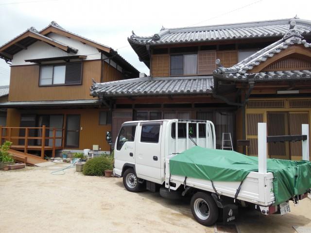 兵庫県南あわじ市 戸建住宅 木部外壁塗装
