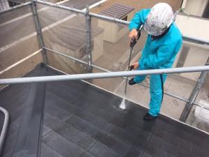 屋根塗装前洗浄 徳島県藍住W邸様邸