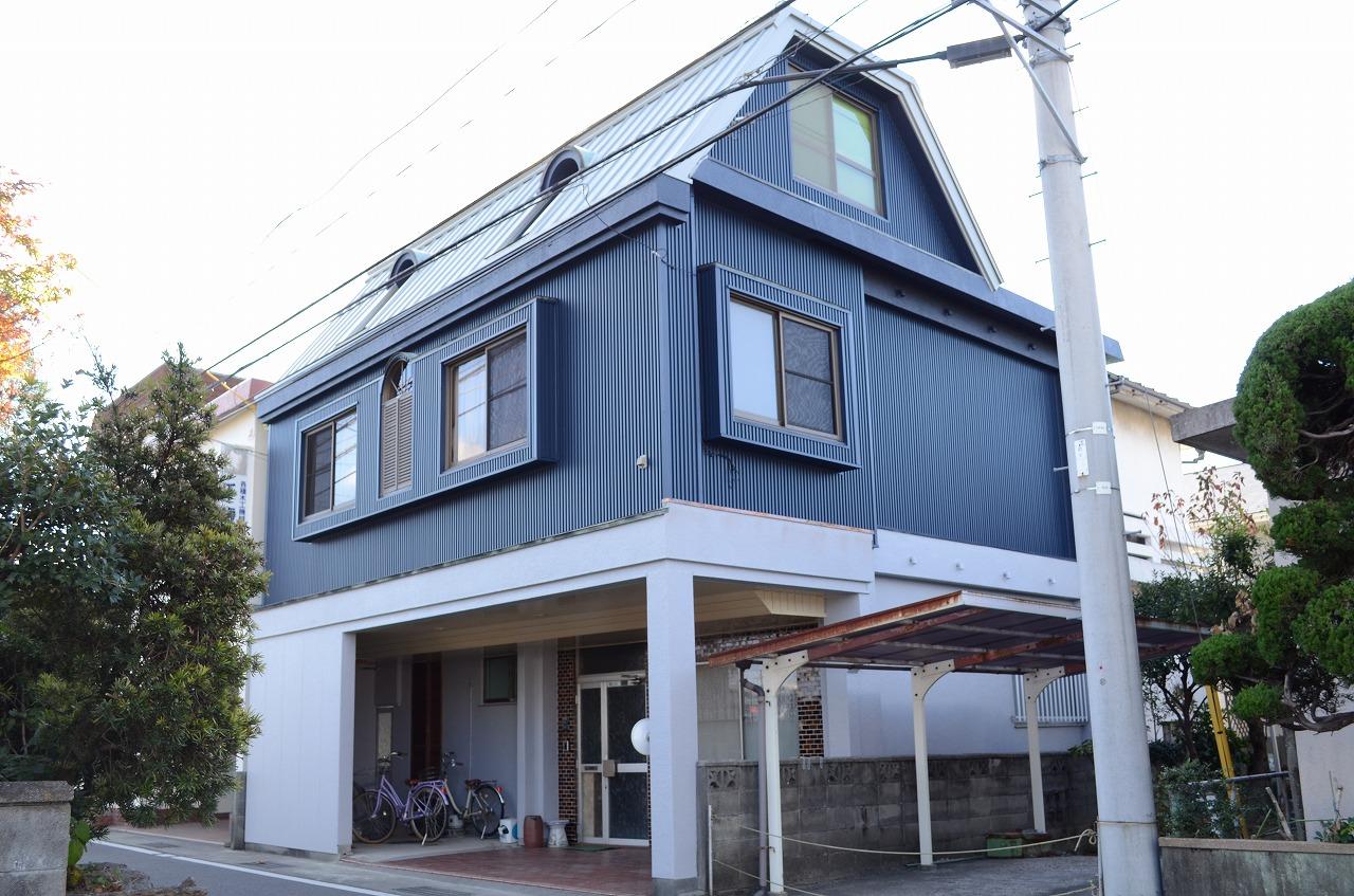 徳島 外壁ガルバリウム鋼板 屋根ガルバリウム鋼板張り徳島の外壁塗装