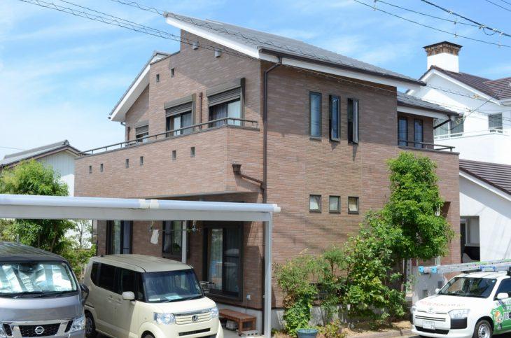 外壁クリヤー塗装・屋根GAINA塗装を施工させて頂きました徳島市D様の声