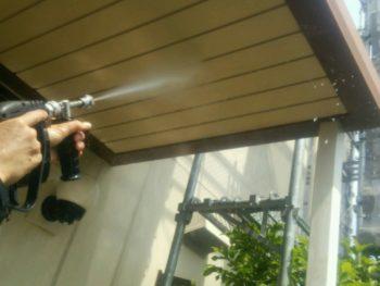 中山コーティング 阿南市 外壁塗装 玄関ポーチ