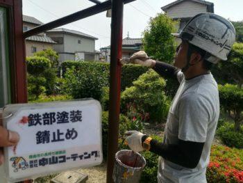 中山コーティング 柱 藍住町 外壁塗装
