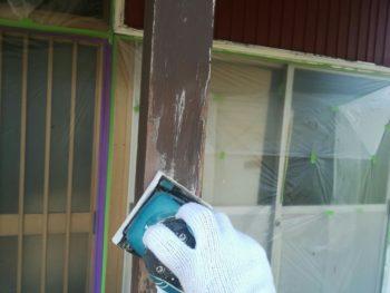 中山コーティング 藍住町 外壁塗装 柱
