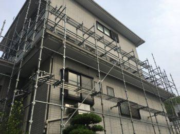 阿南市 外壁屋根塗装 M様邸 本日は足場組立