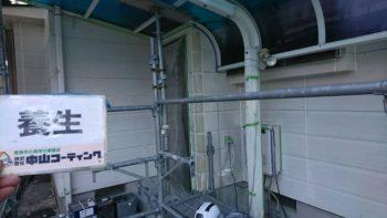 徳島市 無機外壁塗装 K様邸 外壁補修やビニール養生作業を進行させていただいております☆