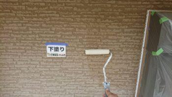 外壁塗装 下塗り・中塗り・上塗りなどを面事に施工を行わせて頂いております(^^♪