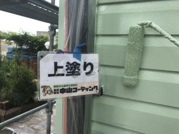 徳島市 屋根外装塗替え K様邸 外壁上塗りが完工し、スウェーデンハウス