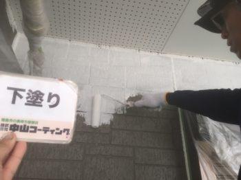 縦ラインのアクセントカラーを塗るので職人も仕上がりが楽しみです♪