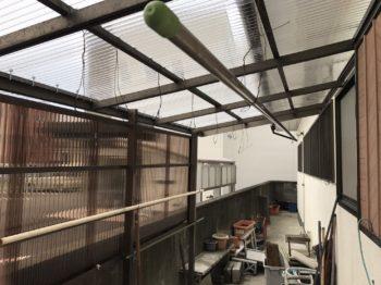 外壁塗装 徳島市 K様邸 足場解体後、ポリカ張替え