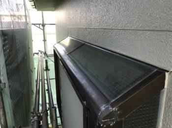 徳島市マンション 出窓コーキング打ち替え・水漏れ樋修繕工事