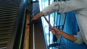 徳島市 外装塗装 K様邸 通し柱大工工事