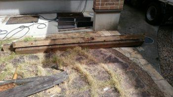 徳島市 塗替え N様邸 足場組立前にウッドデッキ解体