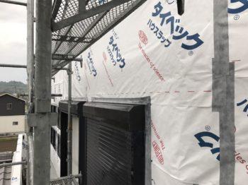 阿南市 外壁交換 S様邸 ガルバリウム鋼板外壁を剥ぎタイペック(透湿防水シート)