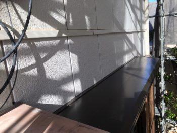 徳島市 庇取付・樋新規取り付け・木部板金巻き M様邸