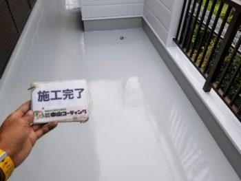 徳島市 住宅防水・塗装 足場解体やX-2工法(メッシュ)