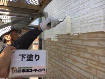 鳴門市 外壁塗装 H様邸  外壁下塗り