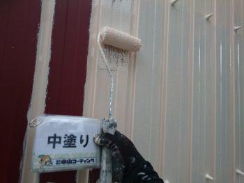 磁器タイル壁面のカバー工法
