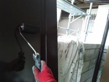 足場解体や物置塗装を行いました