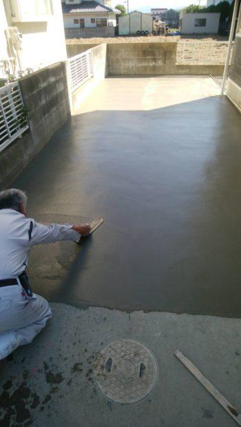 板野郡藍住町 土間コンクリート工事・外壁塗装 N様邸