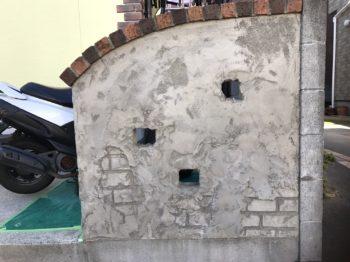 徳島県板野郡藍住町 外壁塗装・塀モルタル造形 S様邸