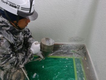 マンション 改修工事 徳島 中山コーティング 吹き戻し