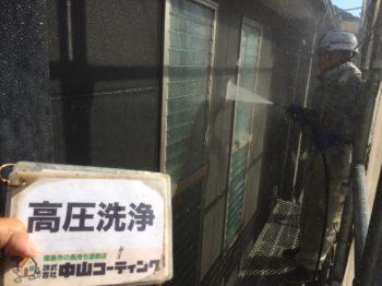 木部薬品洗浄・高圧洗浄作業を行わせて頂きました(^^)