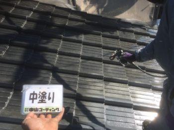 出窓上部塗装や大屋根塗装をメインに行いました(^^)
