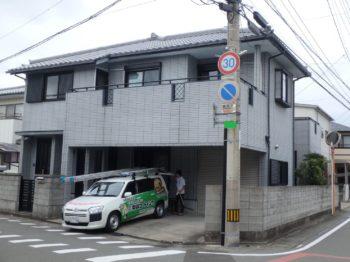 徳島市 外壁塗装2色コントラスト使用M様邸