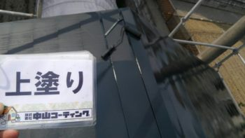 清掃作業や屋根仕上げ塗りを行わせて頂いております(^^)