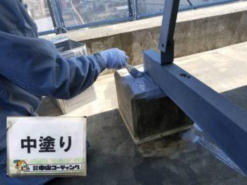 徳島市 コンクリート塗装 I様邸 ウレタン防水一層目や