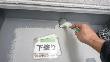 徳島市 ダイヤカレイドビジュー外壁塗装 M様邸 塗装作業が完了し手摺コーキング