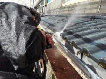 屋根塗装 徳島 中山コーティング 洗浄