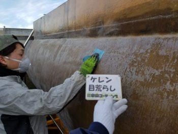 徳島県 運送会社様ご依頼 運搬タンク塗装 日本ペイント ファインシリコンフレッシュ