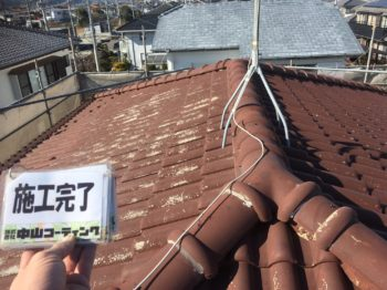 小松島市 屋根塗装・破風板塗装S様邸 日本ペイント パーフェクトベスト