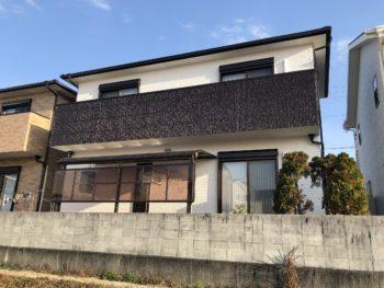 阿南市 屋根外壁塗装 S様邸 足場解体を行いました(^^)後日、鳩除けを取付させて頂きます。