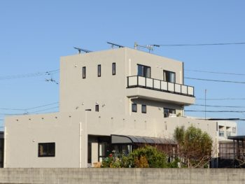 徳島市コンクリート打ち放し再現外壁塗装 I様邸
