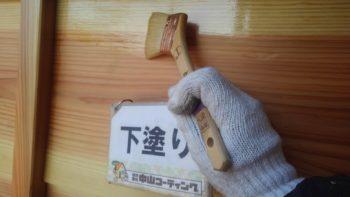 徳島市 入母屋住宅 外壁張替え(鎧張り)・クリヤー塗装U様邸 和信化学工業 艶消しウレタンクリヤー