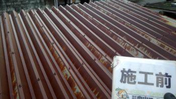 徳島市 屋根一部葺き替え・駐車場鉄骨塗装M様邸 GAISO タフネスシリコンⅡ