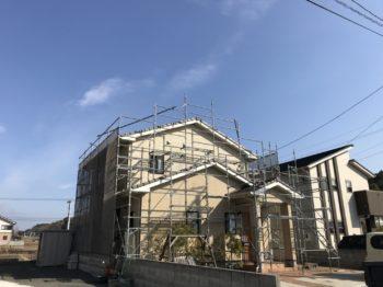 阿南市 フッ素塗装 h様邸 足場→洗浄→コーキング打ち替え