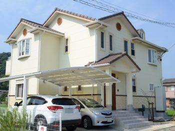徳島県名西郡石井 外壁塗装高意匠性サイディング2色塗装 U様邸