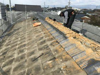 徳島市 セメント瓦屋根からガルバリウム鋼板葺き替え S様邸
