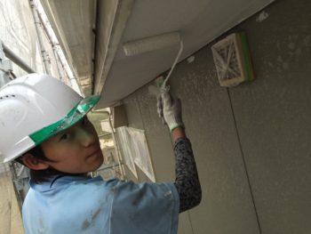 徳島 アパート 塗替え 軒天井