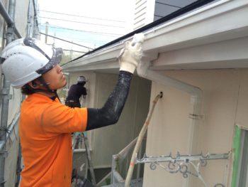 徳島 アパート 塗替え 雨樋