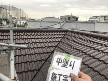 工法は外壁ダイヤカレイド・屋根無機ルーフ仕上げとなっております。