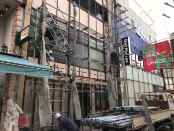 徳島市 銀座通り 店舗改装モルタル造形