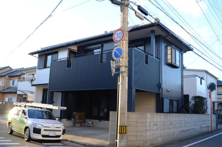 外壁が傷んでおり外壁張替えと外壁塗装 徳島市M様邸