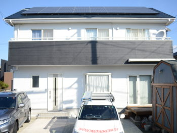 徳島市川内 黒白モノトーン調で外壁塗装 屋根塗装 M様邸