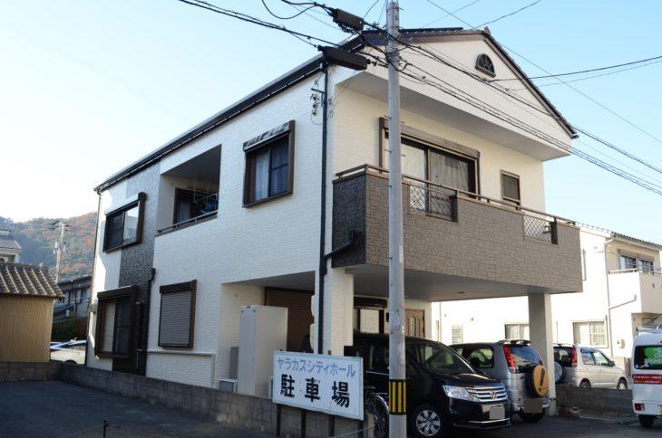 徳島市で茶色系・薄黄色系色で屋根塗装・外壁塗装 N様