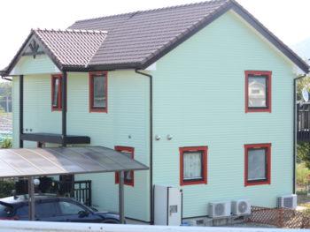 徳島市スウェーデンハウスの外壁塗装 K様邸
